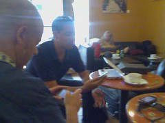Chatting with @atmasphere at Coffee To The People