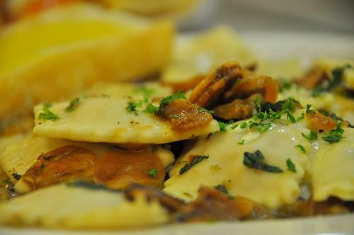Ham and Garlic Ravioli