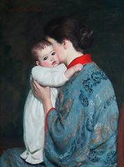 Lilla Cabot Perry (de sata1) Tags: baby painting peinture bb motherandchild chignon lillacabotperry