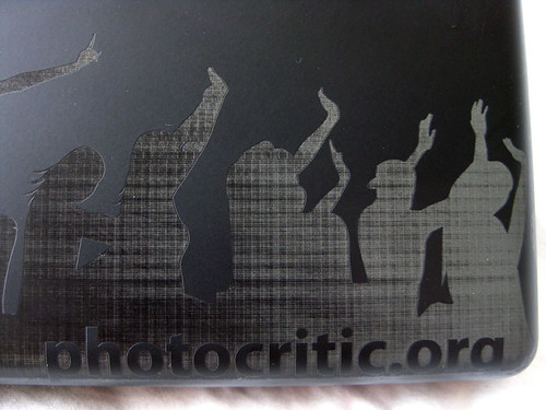 BlackBook Laser Engraving 4: URL close-up