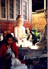 Burma, Buddhist Sculptress