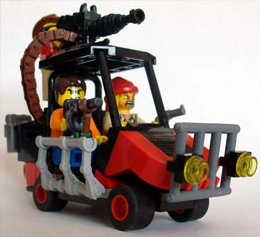 Post-apoc Warthog (golf cart)