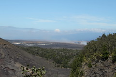 Steam vents from the Kilauea Caldera