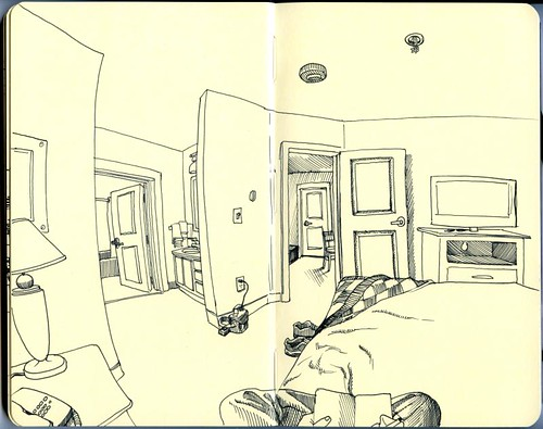 hotel room sketch bozeman