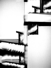 Spiral & Soul ... Stairs to ... (Silandi) Tags: blackandwhite white abstract black lines blackwhite stair symbol curves reality imagination symbols 2009 symbole momentum spiralstairs phantasie symbolics linescurves monochromeformsinvisualarts imaginationreality selfdiamonologue sq renateeichert resilu