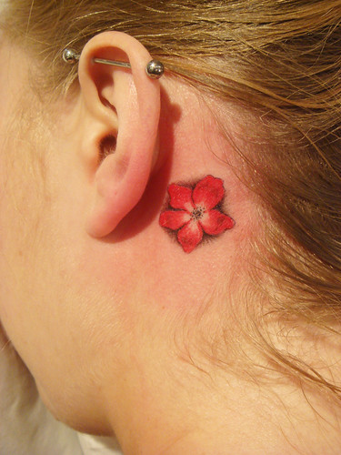 Poppy flower tattoo