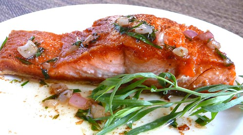 Salmon with Tarragon & Shallot Butter Sauce Recipe