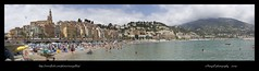 Menton's panoramic (Margall photography) Tags: france photoshop photography nikon panoramic marco francia 2009 menton mentone d40 galletto margall photomergie