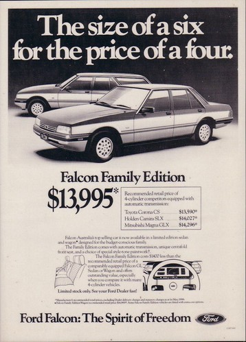 Ford XF Falcon Family Edition Ad