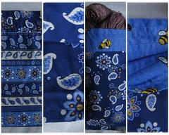 blue paisley bags