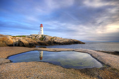 Peggy's Cove (Marcel Cavelti) Tags: ocean sunset sea summer lighthouse canada reflection water nova cove scotia peggys hdr leuchtturm superaplus aplusphoto landcscape2