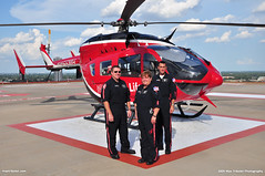Memorial Hermann Life Flight Crew (Max Tribolet) Tags: hospital texas houston helicopter medic mh eurocopter helipad medicalcenter lifeflight ec145 hospitalhelipad medicalhelicopter memorialherman n453mh n455mh medialsupport