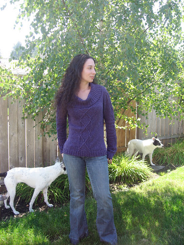 Slouchy Silky Wool Pullover in Yard