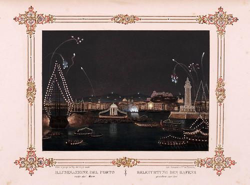 015- Iluminacion del puerto Trieste-- Ferdinando I e Maria Anna Carolina  nel litorale in settembre 1844