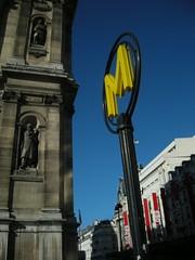 metropolitain (ÇaD) Tags: paris france yellow subway metro chad metropolitain ratp hôteldeville cagdas ozturk deger cagdasdeger