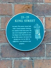 Photo of 23-25 King Street green plaque