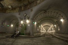 Elbtunnel on HDR (go_nils) Tags: hamburg 2009 dri hdr alterelbtunnel qtpfsgui qtpfs mantiuk ollil