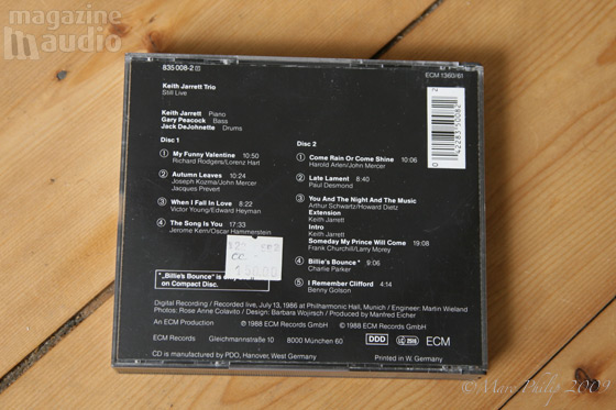 Still Live 1988 Keith Jarrett, Gary Peacock et John De Johnette