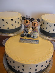 Mickey & Minnie Cake (Josef's Vienna Bakery) Tags: vienna wedding food dessert marisa sweet weddingcake nevada tahoe tasty bakery mickeymouse caketopper minniemouse reno bridal sparks hess fondant handmadeflower josefs