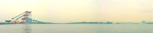 臨海大橋建設中