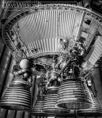 Saturn V, Second Stage (2) (DaveWilsonPhotography) Tags: camp monochrome space houston nasa rocket saturn spacecenter saturnv johnsonspacecenter jsc rocketpark 2ndstage pack101 secondstage