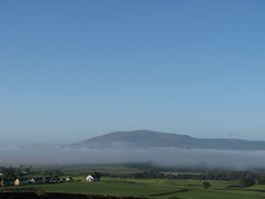 Criffel above the sea mist (pinkpebbleperson) Tags: autumn sea mist church september solway criffel dumfries galloway mousewald