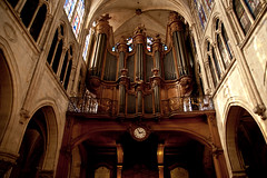 Organ at St. Severin (bump) Tags: wood paris france church cathedral organ severin carvings stsverin