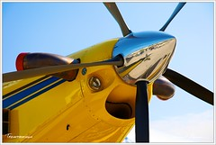 Air Tractor AT-802 (Tazintosh) Tags: cielsky bleublue jauneyellow canonef24105mmf4lisusm colorcouleur canoneos5dmarkii airtractorat802 aircraftavion salonaeronautiquedubourget2009 aeronautiqueaeronautical civilsecuritysecuriteutilityutilitaire helicepropeller moteurengine
