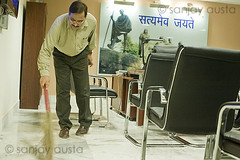 Brooming one's own room first, MCD Commissioner Gaziabad, UP (sanjayausta) Tags: india public office asia indian clean honest government sweep broom officer commissioner sanjay servant pradesh uttar bureaucrat austa gaziabad