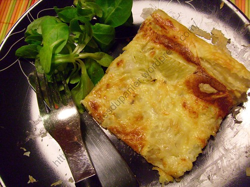 Tarte au fenouil et au bleu / Fennel and blue cheese pie