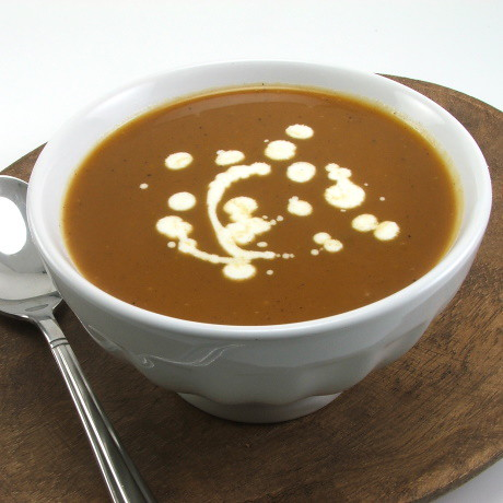 Roasted Butternut Nut Squash, Sweet Potato and Maple Soup
