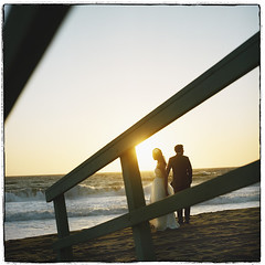C R A S H (* OneLovePhoto.com) Tags: california 120 film beach square restaurant kodak malibu hasselblad zuma medium thesunset