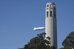 Zeppelin (Black Rock City) Tags: sf sanfrancisco california ca aviation zeppelin northbeach airship telegraphhill eureka dirigible zepellin zlt luftschiffe zeppelinnt 75meters airshipventures nt07 zeppelinluftschifftechnikgmbh n704lz airshipventurescom luftschifftechnikgmbh