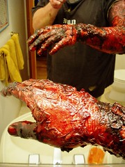 Pass the H2O2 (Rosenwald) Tags: hand zombie makeup burn undead