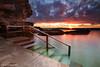 Curl Curl, Sydney, Australia (-yury-) Tags: ocean longexposure morning sea sky cliff sun pool clouds sunrise canon rocks steps sydney rail australia 5d tidal вода море curlcurl рассвет австралия океан leefilter abigfave ultimateshot сидней