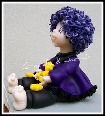 Bruxinha de biscuit (Imagine Arte - Gracielle e Jair Jr.) Tags: black wool yellow star purple witch estrela preto amarelo biscuit roxo bruxa l