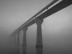 Foggy Solomons Island Bridge 5