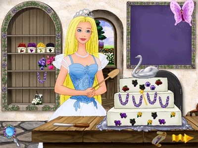 help barbie bake her wedding cake, if you want to die of boredom