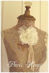 Paris Rags Form (kimberlyannryan) Tags: roses lace antique fleamarket mountdora dressform millinery shabby teastained