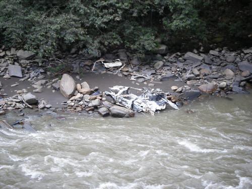 Car Body At the Bottom of the Ruta del Muerte