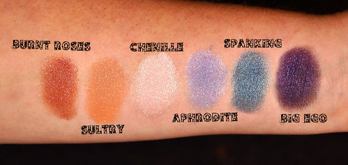 BFTECosmetics Swatches Set 1