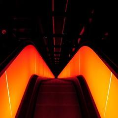 zeche zollverein / abysmal depth (c-h-l (paused)) Tags: longexposure blue light orange colour colors night germany deutschland essen octob