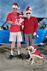 Mark, Karrie, Adam, Ford (RenoLaatschPhotos) Tags: christmas blue red dog baby tree adam ford hat clouds glasses sand desert mark sandstorm leash karrie strom doggles sants fabrication sandcar sb26 d40 sb20 strobist