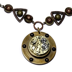 fiction art fashion modern necklace punk artist industrial mechanical artistic designer handmade montreal unique daniel jewelry retro steam jewellery fantasy etsy brass artisan accesories steampunk neovictorian proulx catherinetterings danielproulx