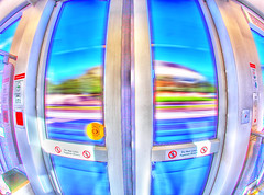 Phoenix Light Rail Door Fisheye! (gbrummett) Tags: fisheye hdr phoenixarizona photomatixpro digitalphotoprofessional phoenixlightrail canonef15mmf28fisheyelens canoneos5dmarkiicamera grantbrummett ridephoenixlightrail