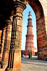 Qutub Minar, Delhi (Ashish_Clickbug) Tags: new india tree nikon delhi qutub minar d5000 unseeenindia