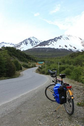 Biking to Glaciar Martial