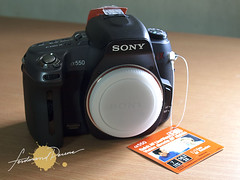 Sony A550 Body Front with cap
