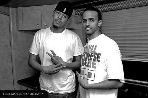 J.Cole and Chedo in the tourbus