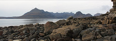 The Black Cuillin, Isle of Skye (SwaloPhoto) Tags: sea panorama water coast scotland rocks isleofskye stones elgol scottishhighlands bythesea canoneos450d theblackcuillin lochskavaig themunros sigma18200f3556dcos highlandsislandsofscotland